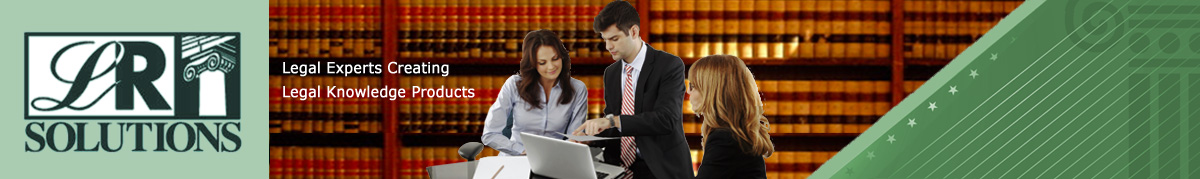 LRS Solutions: Legal Experts Creating Legal Knowledge Products